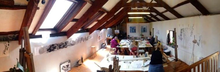 Working in the studio